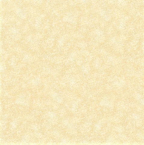 Hoffman Metallic Brilliant Blender 8555 22G Ivory/Gold Pin Dots By The Yard