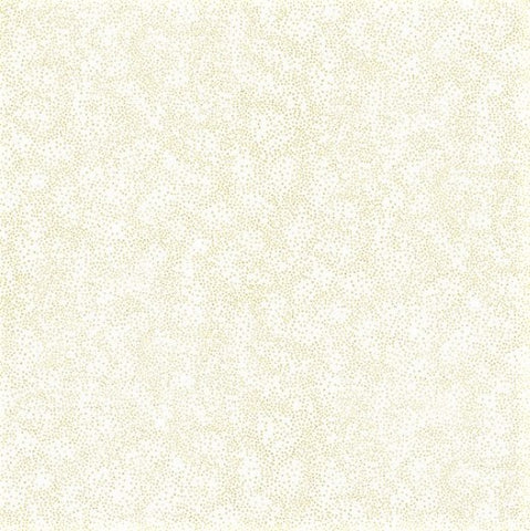 Hoffman Metallic Brilliant Blender 8555 3G White/Gold Pin Dots By The Yard