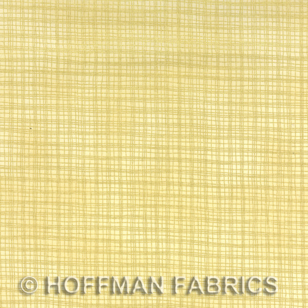 Hoffman Metallics 8565 33 Cream & Gold Metallic Plaid By The Yard