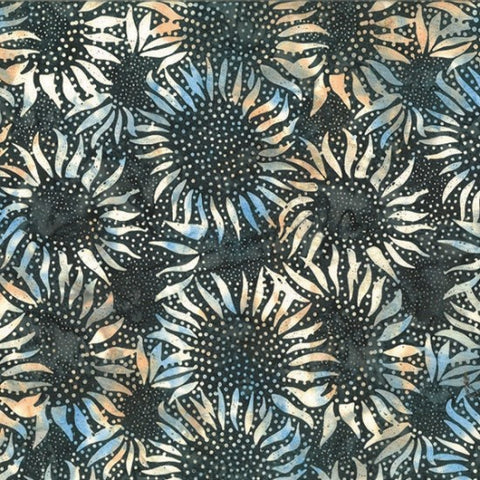 Hoffman Bali Batiks 884 380 Mineral Abstract Sunflowers By The Yard