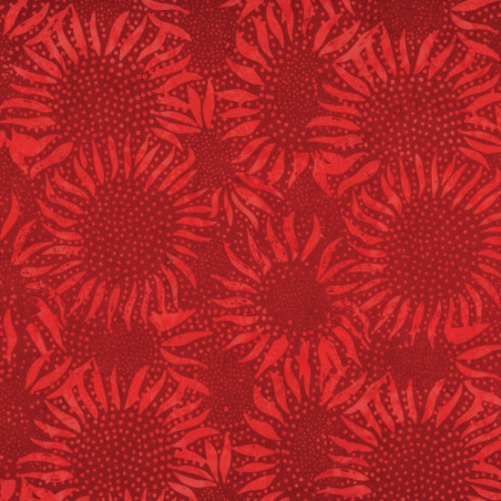 Hoffman Bali Batiks 884 403 Cherry Abstract Sunflowers By The Yard