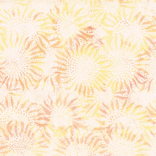 Hoffman Bali Batiks 884 510 Plumeria Orange & Yellow Abstract Sunflowers By The Yard