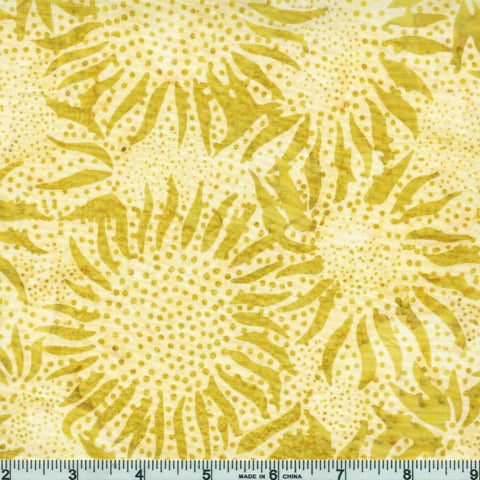 Hoffman Bali Batiks 884 481 Key Lime Abstract Sunflowers By The Yard