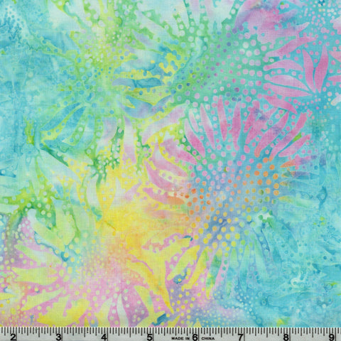 Hoffman Bali Batiks 884 135 Pastel Abstract Sunflowers By The Yard