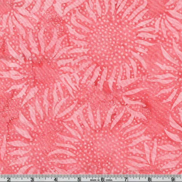 Hoffman Batiks Grapefruit 884 416 Marmalade Abstract Sunflowers By The Yard