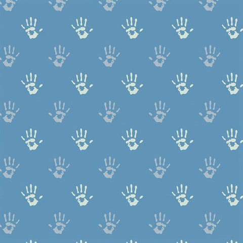 Art Gallery Fabrics Playroom 89811 Cobalt Fingerpaint By The Yard