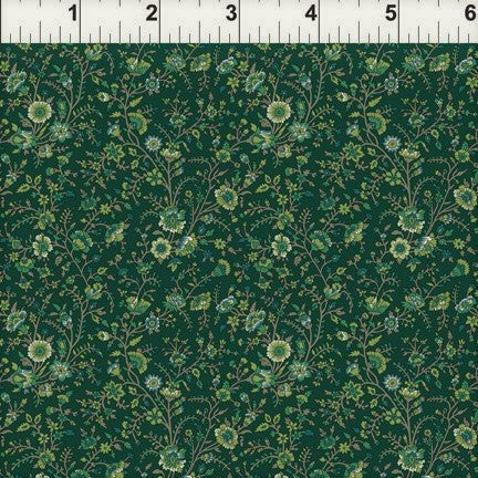 In The Beginning Garden Delights III - 8GSG 2 Teal Delicate Blooms By The Yard