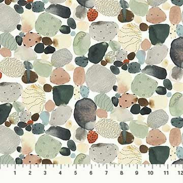 FIGO Fabrics Desert Wilderness 90100 10 White Desert Rocks By The Yard