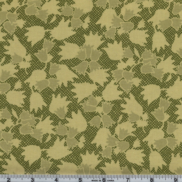 RJR Fabrics Block Party 9069 1 Tip Toe Through the Tulips Moss By The Yard