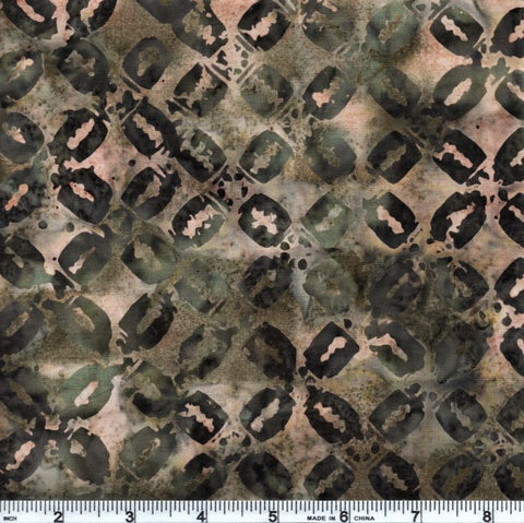 Anthology Batik 9529 Green Abstract X By The Yard