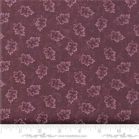 Moda Kansas Troubles Milestones 9614 16 Purple Leaves By The Yard