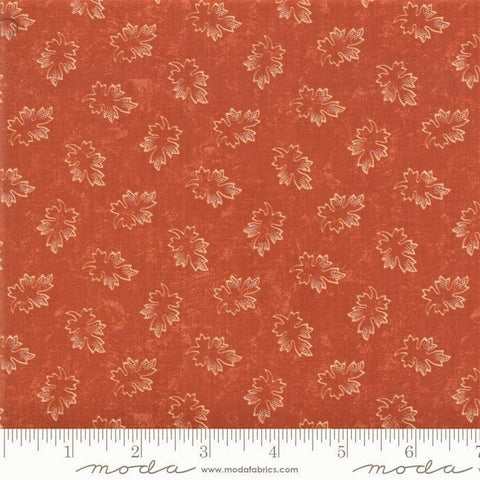 Moda Kansas Troubles Milestones 9614 17 Orange Clay Leaves By The Yard