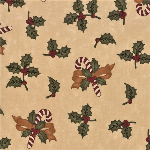 Moda Kansas Troubles Sweet Holly 9630 11 Tan Sweet Holly By The Yard