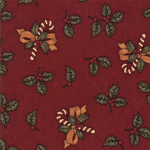 Moda Kansas Troubles Sweet Holly 9630 13 Red Sweet Holly By The Yard