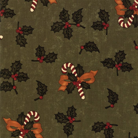 Moda Kansas Troubles Sweet Holly 9630 15 Green Sweet Holly By The Yard
