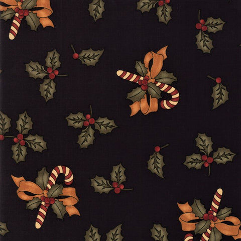 Moda Kansas Troubles Sweet Holly 9630 19 Black Sweet Holly By The Yard