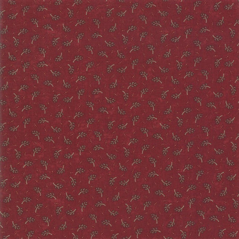 Moda Kansas Troubles Sweet Holly 9632 13 Red Evergreen By The Yard