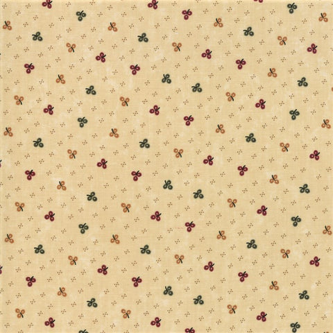 Moda Kansas Troubles Sweet Holly 9633 11 Tan Winter Clover By The Yard