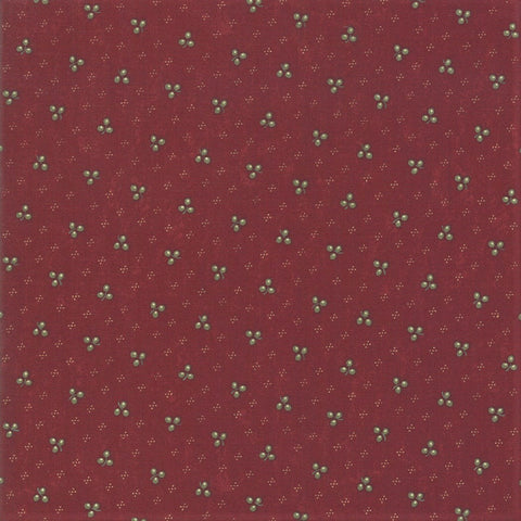 Moda Kansas Troubles Sweet Holly 9633 13 Red Winter Clover By The Yard