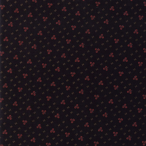 Moda Kansas Troubles Sweet Holly 9633 19 Black Winter Clover By The Yard