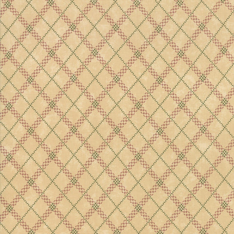 Moda Kansas Troubles Sweet Holly 9635 11 Tan Gift Wrap Plaid By The Yard