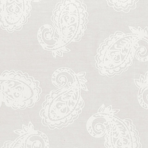 Anthology Specialty Bali Batiks 976Q 1 White Paisley With Heart By The Yard