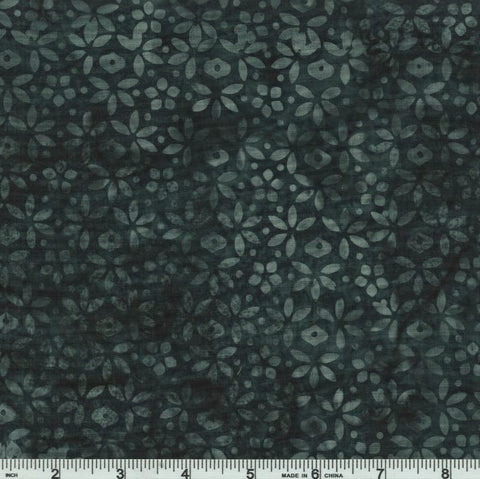 Hoffman Fabrics Bali Batik 993 1770 Charcoal Little Floral By The Yard