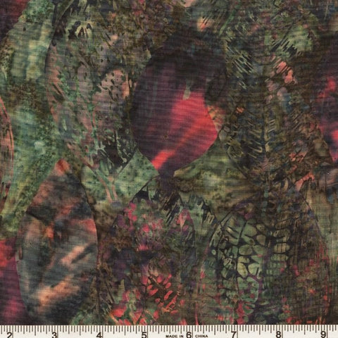 Hoffman Bali Batik 9995 06 Forest Jungle Leaves By The Yard