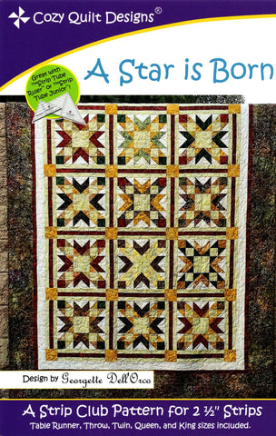 A STAR IS BORN - Cozy Quilt Designs Pattern DIGITAL DOWNLOAD