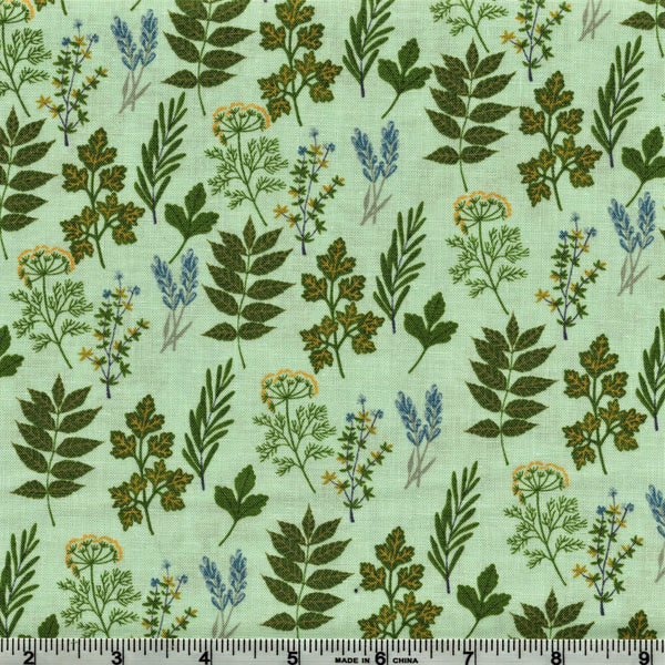 Poppie Cotton Prairie Sisters - Alice's Collection Mint By The Yard