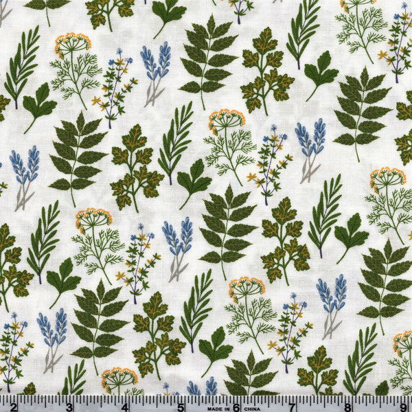 Poppie Cotton Prairie Sisters - Alice's Collection White By The Yard