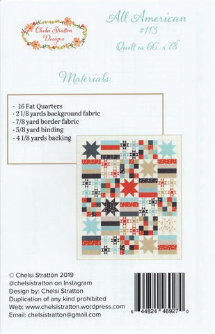 ALL AMERICAN - Chelsi Stratton Designs Pattern # 113