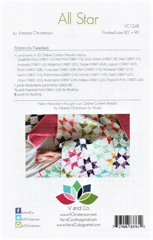 ALL STAR - V and Co. Quilt Pattern VC1248