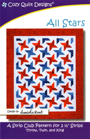 ALL STARS - Cozy Quilt Designs Pattern DIGITAL DOWNLOAD