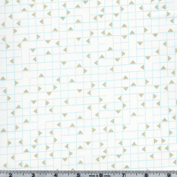 RJR Neutrals VF101 AQ2 Aqua/Green Pyramid Maze By The Yard