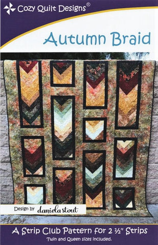 AUTUMN BRAID - Cozy Quilt Designs Pattern DIGITAL DOWNLOAD