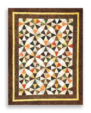 Bali Batik PRE-CUT Roundabout Quilt Kit - Autumn Breeze - Borders Included!