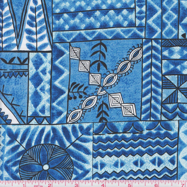 Hoffman BBHC 1031 7 Blue Tribal by the yard