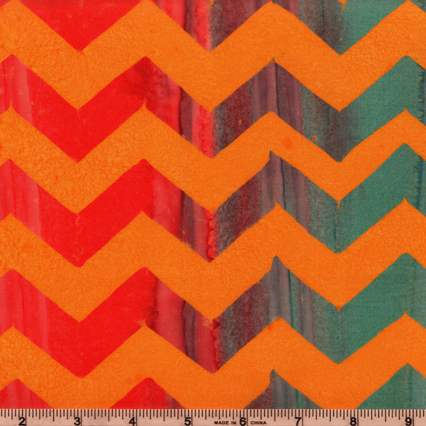 Free Spirit Kaffe Fassett Artisan Batiks BKKF004 Orange Chevron Lightening By The Yard