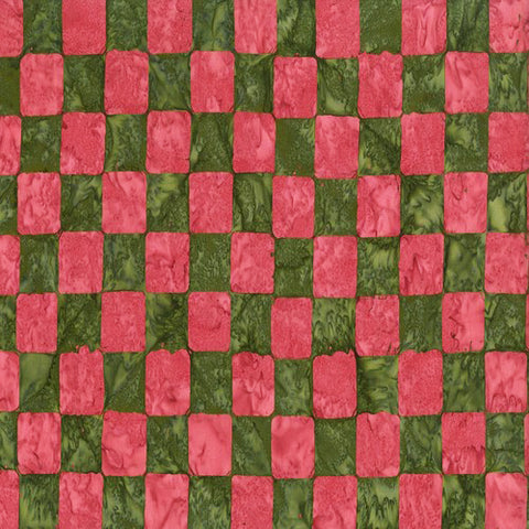 Free Spirit Kaffe Fassett Artisan Batiks BKKF006 Green Chess Board By The Yard