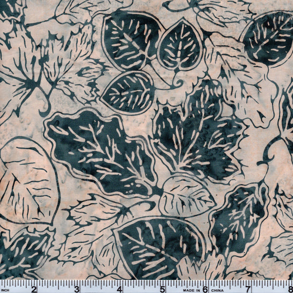 Hoffman Bali Batik BLU 5022 Belle Leaf Pile By The Yard