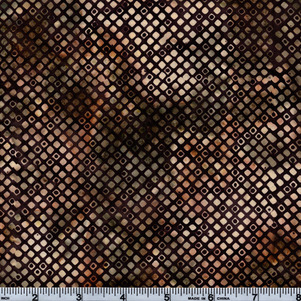 Hoffman Bali Batik BRN 4040 Diamond Grid By The Yard