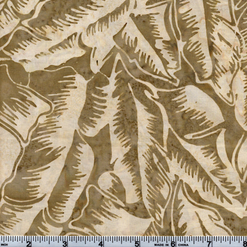 Hoffman Bali Batik BRN 5019 Natural Tropical Leaves By The Yard