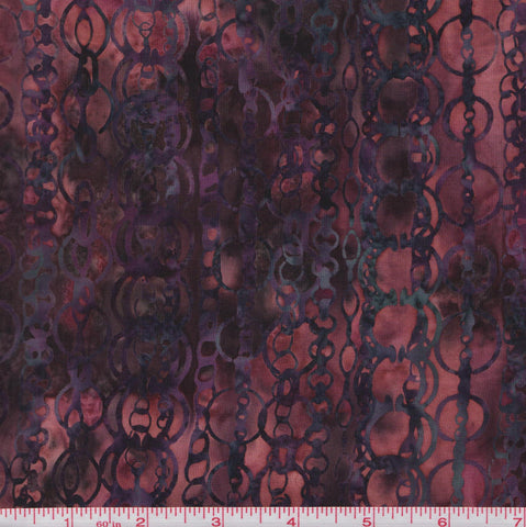 Hoffman Bali Batiks BURG 2039 Burgundy Chains By The Yard