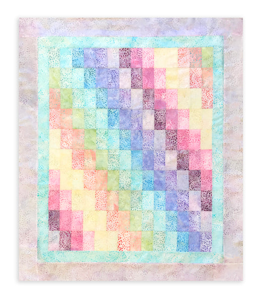 Kaufman Artisan Batiks Pre-Cut Baby Bargello Jelly Roll Quilt Kit - Petal