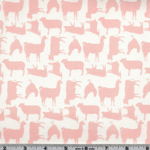 Poppie Cotton Prairie Sisters - Barnyard Pink By The Yard