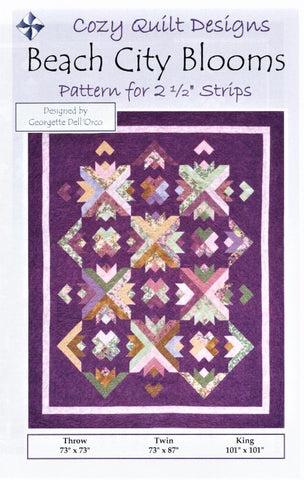 BEACH CITY BLOOMS - Cozy Quilt Designs Pattern