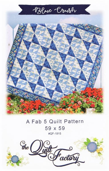 BLUE CRUSH - Quilt Pattern QF-1915 By The Quilt Factory