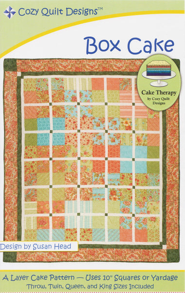 Cozy Quilt Designs Cake Therapy Pattern - BOX CAKE