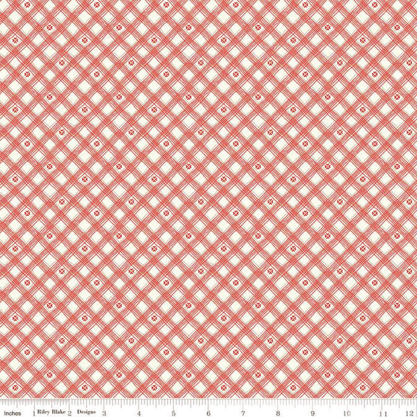 Riley Blake From The Heart C10056 Cream Plaid By The Yard